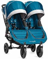Baby Jogger City Mini Gt Double Twin All Terrain Stroller Teal Gray 2016