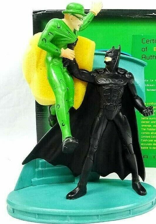 Batman Forever And The Riddler Statue Cold-CAST Applause Inc 1995 New in Box