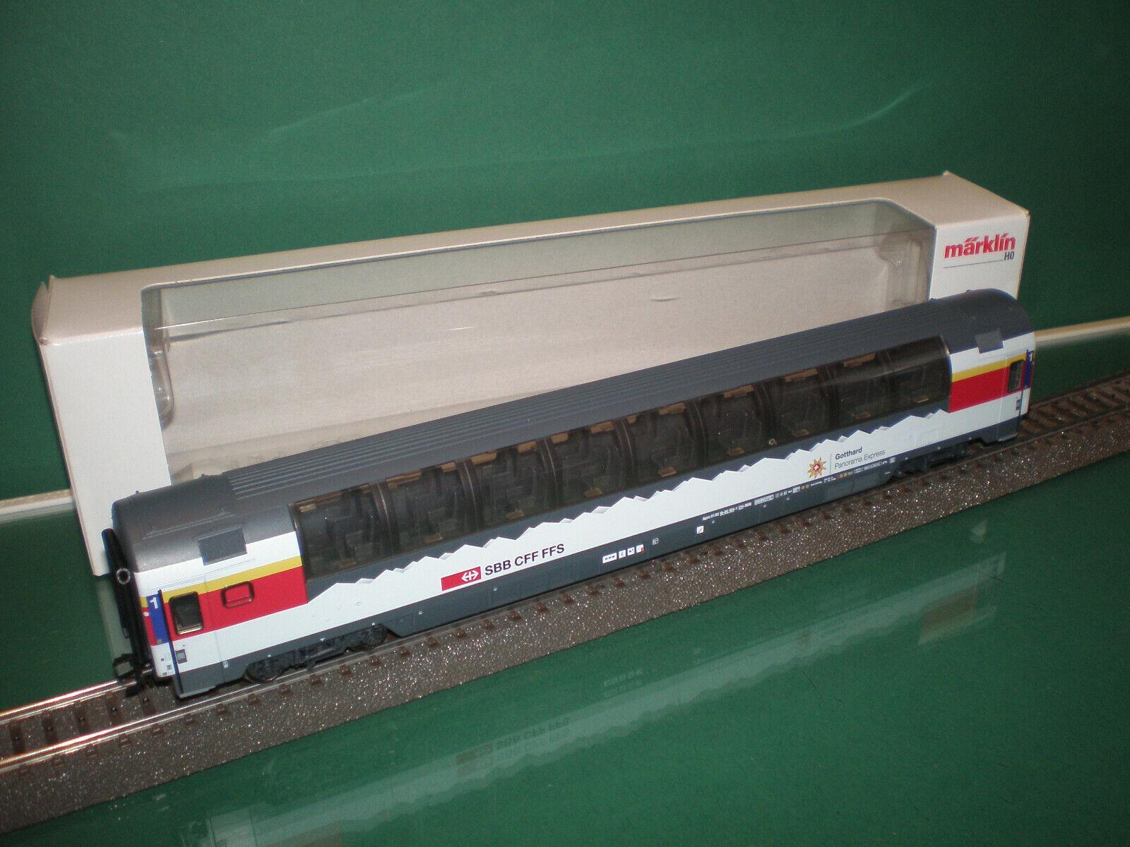 Märklin H0 Personenwagen SBB CFF  Gotthard Panorama Express  aus 43650-02 OVP