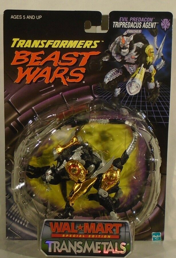 Transformers Beast Wars Deluxe TransMetals Tripredacus Agent Panther Walmart MOC