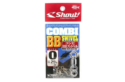 1979 Shout 413-CB Combi BB Swivel with Split Ring Combo For Jigging Size 0