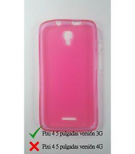 Cover-in-gel-TPU-custodia-protettiva-silicone-per-Alcatel-Pixi-4-5-0-3G-Rosa