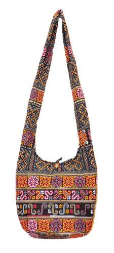 SALE Thai Hippie Hobo Sling Shoulder Crossbody Bag Purse Ethnic Zip Boho Gypsy