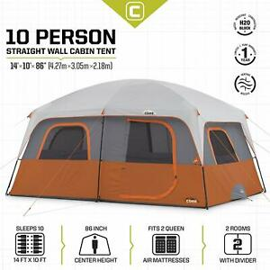 Details about 10 Person Straight Wall Cabin Tent Shelter for Camping Haikking Outdoor 10'x14'