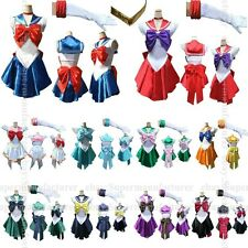 Soldier Sailor Moon Japanese Anime Cosplay Costume Whole Set