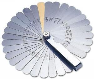 GREAT QUALITY!! Feeler Gauges Gauge AF Imperial Metric 32 Blade + Brass