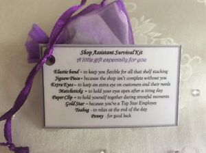 Gift For Shop Assistant Worker Birthday Thank You Gents Ladies Gift Idea