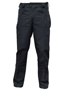 Black Ripstop Tactical Cargo Trousers Male R3UB Grade B