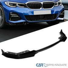 For 19-20 BMW 3 Series G20 G21 Glossy Black Front Bumper Lip Spoiler Splitter