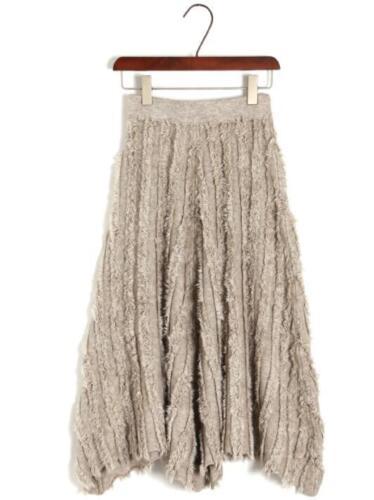 slim jurk gebreide fit midi G719 dikker rok Warm mode Womens elastische Hot qB4AnY