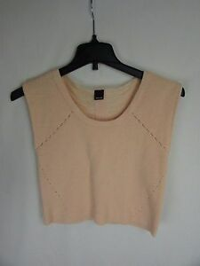 Dolce-Vita-Peach-AVERY-SWEATER-Crop-Knitted-MSRP-145-Women-039-s-Size-Small