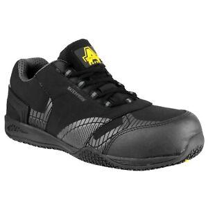 Amblers-FS29C-Negro-de-cuero-impermeable-libre-de-metal-no-entrenador-de-seguridad-6-12