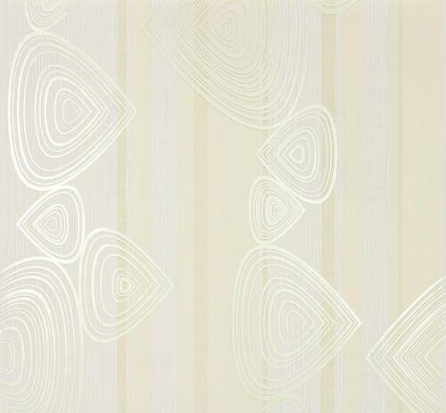 4,21€//1qm Tapete Vlies Grafisch weiß gelb Marburg At Home 56909