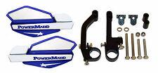 Powermadd Blue/White Star Snowmobile Handguards & Mount Kit Polaris/Skidoo etc.