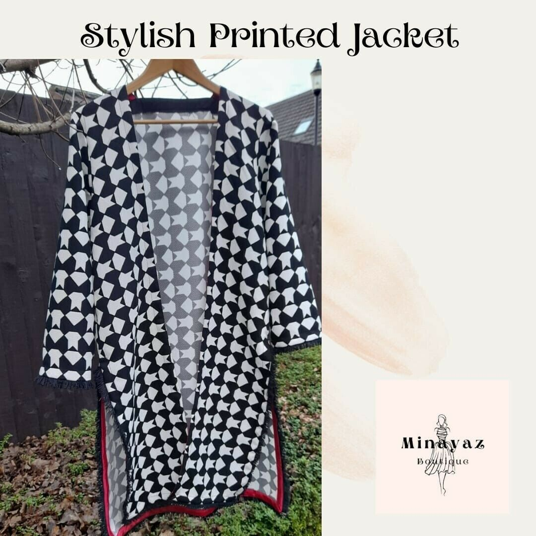 Stylish Printed Jacket Medium Pakistani Trends