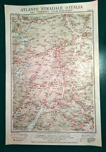 Cartina Stradale Trentino.Carta Geografica Antica Trento Bolzano Trentino Adige Tci 1920 Old Antique Map Ebay