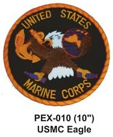 Usmc Eagle Embroidered Military Extra Large Patch Officially Licensed (10)