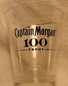 captain morgan rum 100 proof plastic shot glass new ebay. Black Bedroom Furniture Sets. Home Design Ideas