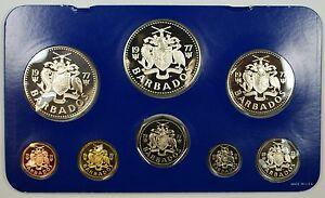 1977-Barbados-8-Coin-Proof-Set-5-10-Silver-w-Box-amp-COA