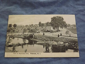 VINTAGE-1907-WEST-SIDE-PARK-PATERSON-NEW-JERSEY-POSTCARD