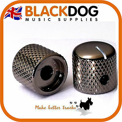 Quality steel guitar knob Black nickel chrome screw fixing tone or volume knobs