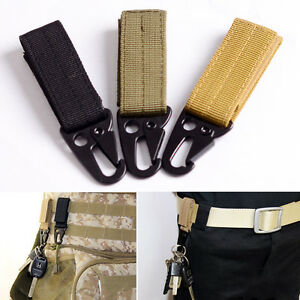 Molle-Military-Tactical-Nylon-Webbing-Clip-Belt-Key-Hook-Buckle-Strap-Carabiner