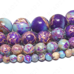 Galaxy-Sea-Sediment-Jasper-Beads-Purple-Imperial-Gemstone-4mm-6mm-8mm-10mm