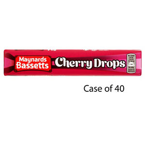 Candy, Gum & Chocolate Maynards Bassetts Cherry Drops Sweets Roll 45g X 40 Treat Gifts Party Halloween