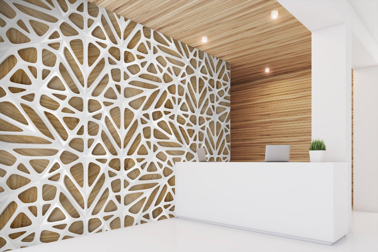 3D Weiß Line Cross 775 Texture Tiles Marble Wall Paper Decal Wallpaper Mural