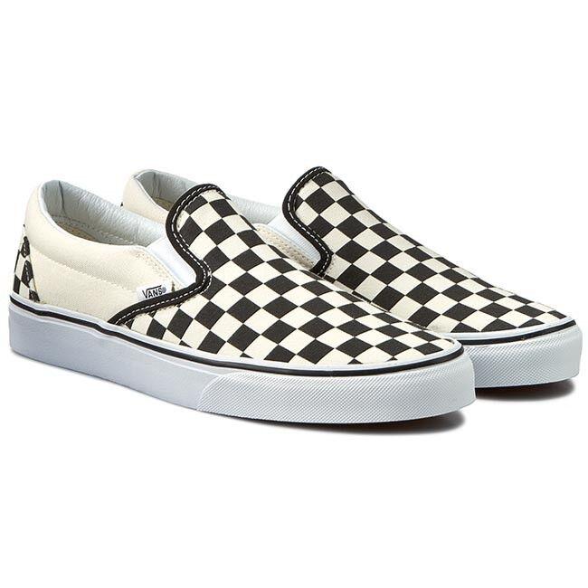 VANS CLASSIC SLIP-ON Sneaker VN-0EYEBWW Black White shoes