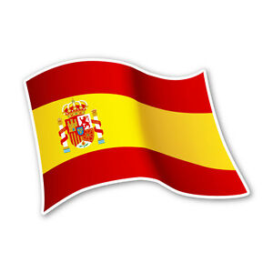 spanien flagge spain autoaufkleber sticker fahne aufkleber dru 0085 ebay. Black Bedroom Furniture Sets. Home Design Ideas