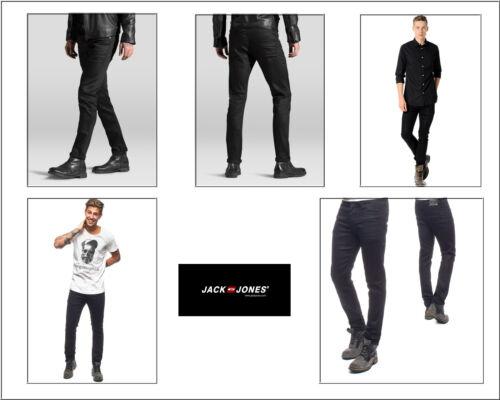 Jack & Jones Jeans Jos 800 Black Uomo SlimFit Denim Pantaloni Nero Hipster Look