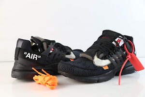 Details about Nike Air Presto Off-White Virgil Abloh Black Part 2 AA3830-002 2018 4-13 10 ten