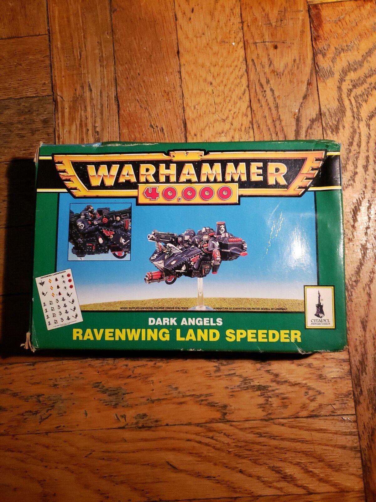 Warhammer 40K Ángeles oscuros Ravenwing Land Speeder Citadel Miniatures
