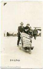 Carte-photo .Santé.  Ancien Fauteuil roulant . Old wheelchair . Health