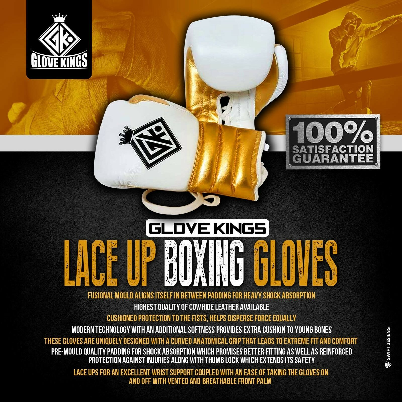 LACE BAG UP BOXING GLOVES BAG LACE PAD PUNCH GK UFC INSPIROT BY GRANT WINNING CLETO REYES 1ab518