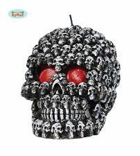 SQUELETTE FAÇADE Crâne Bougie Halloween Têtes de mort Décoration Accessoire