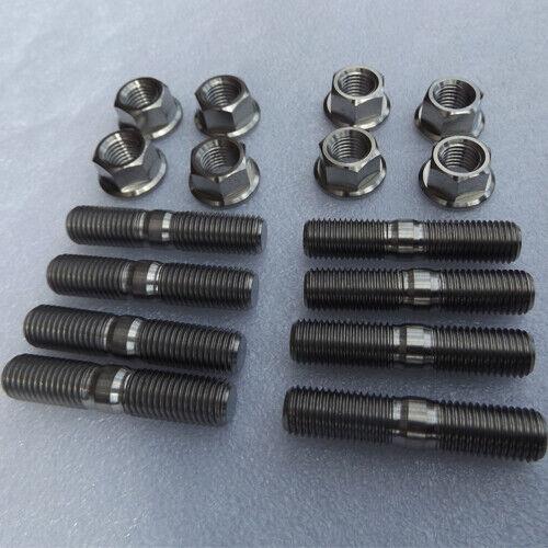 M10x1.25 Titanium Gr5 Exhaust Stud And Nut Kit X8