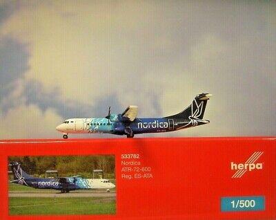 Herpa 533782-1//500 Nordica ATR-72-600 Neu