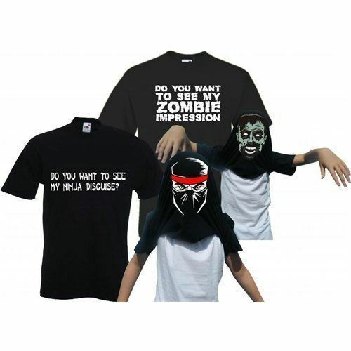Kid/'s Do You Want to See My Ninja et Zombie Double Pack Flip T-shirts
