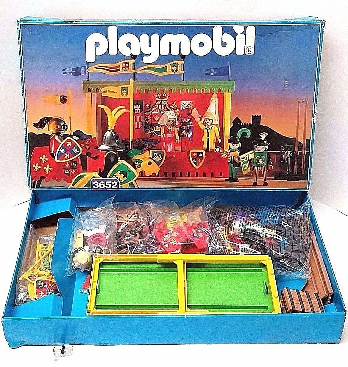 Playmobil Medieval Jousting Tournament Royal Court 3652 COMPLETE NEW IN BOX '93