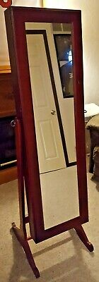 Gold Silver Safekeeper Dressing Mirror Jewelry Cabinet By Lori