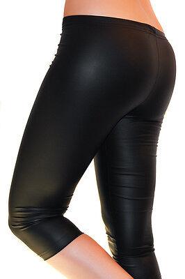 Qualificato Donna Leggings Capri 3/4 Lucentezza-matt Pantaloni Anca Come Ecopelle Vernice-mostra Il Titolo Originale