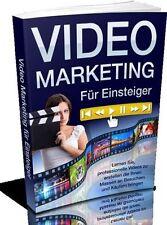 VIDEO MARKETING eBook VIDEOMARKETING Deutsch VK Seiten + PLR LIZENZ Youtube GEIL