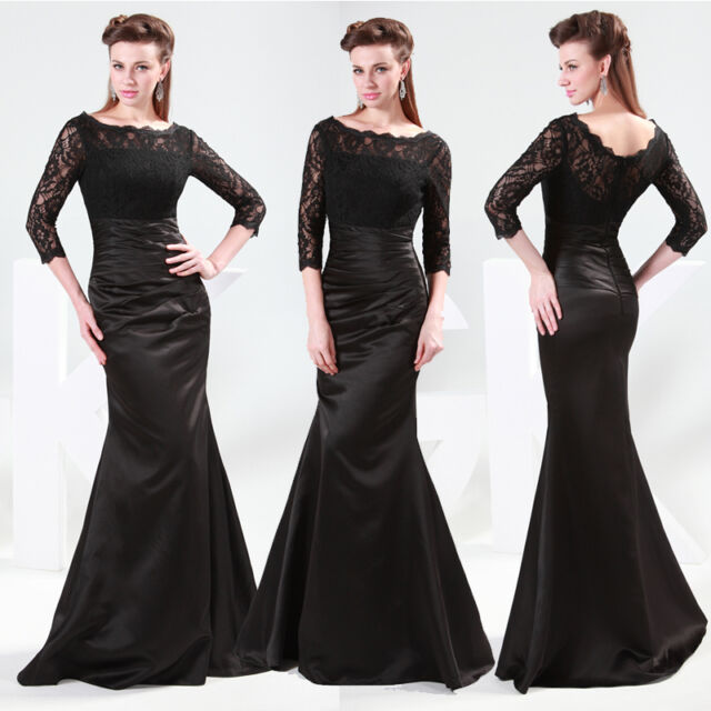 CHEAP! Plus Lace Mermaid Long Dress Formal Evening Gown Wedding Dress Prom Dress