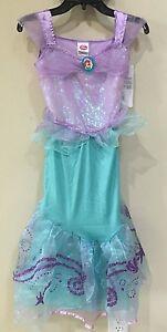 Nuevo Vestido Princesa Disney Ariel La Sirenita Traje Tamaño