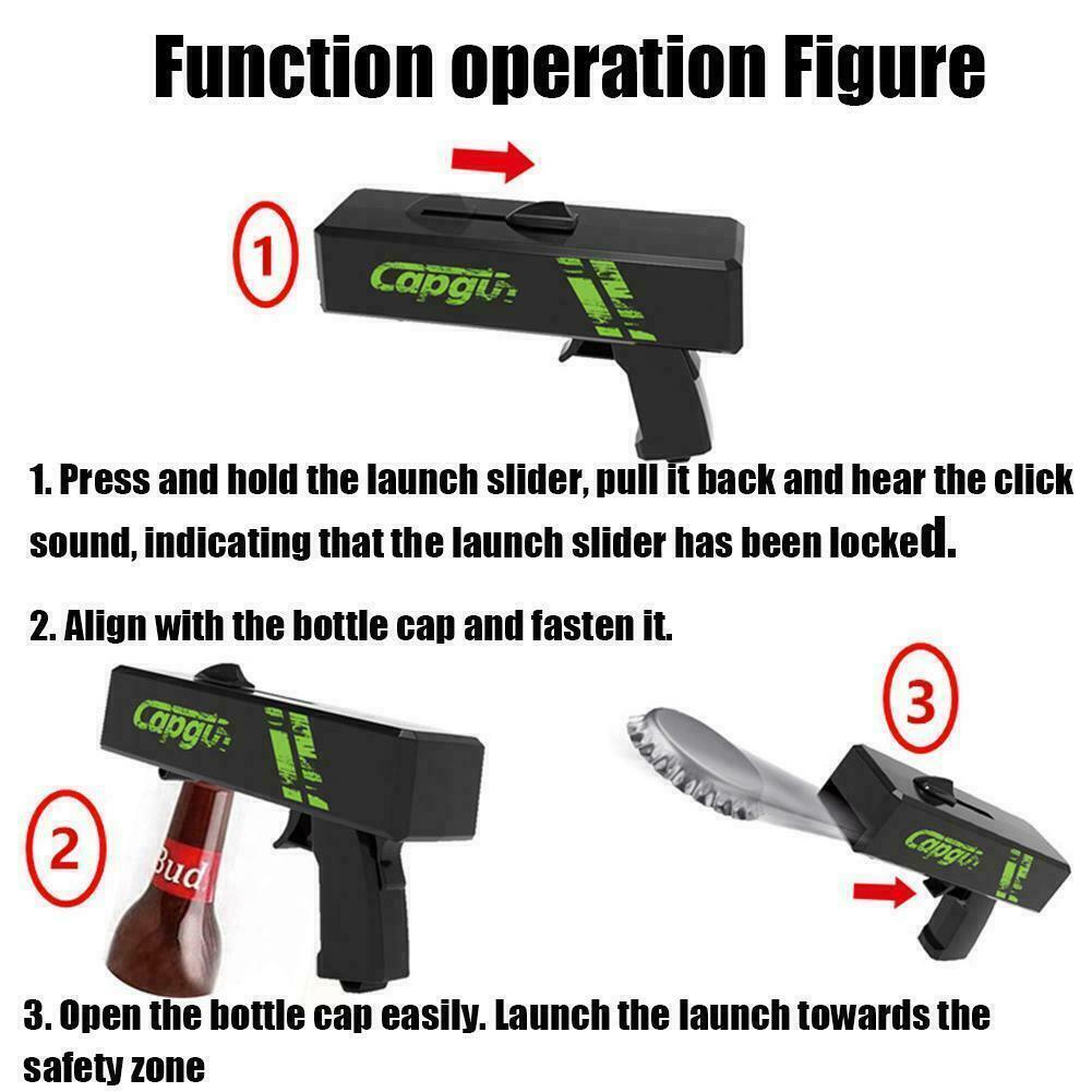 Firing Cap Gun Flying Cap Launcher Bottle Beer Opening Z6G2 Opener Jar Tools