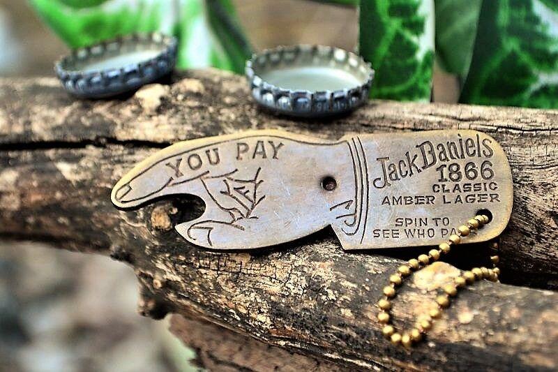 jack daniels 1866 classic amber lager bottle opener key chain fickle finger fate ebay. Black Bedroom Furniture Sets. Home Design Ideas