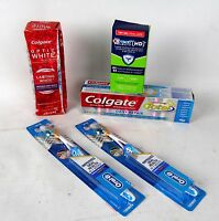 Teeth Care Lot - Toothpaste, Whitening, Toothbrush - Colgate, Oral-b, Crest