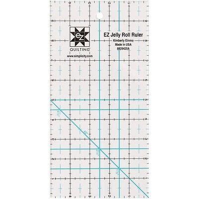 Simpli-EZ 8829425 5-inch by 10-inch Jelly Roll Ruler Quilting Tool Simpli-EZ